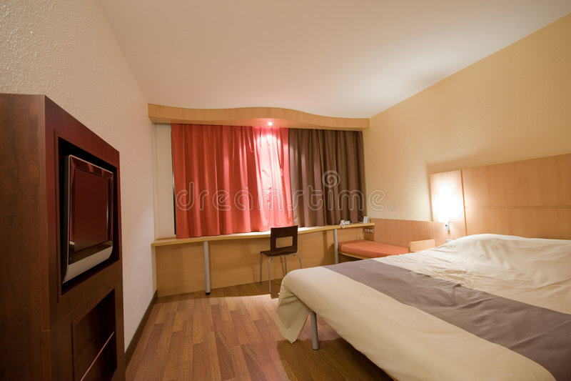 Moderne hotelruimte royalty-vrije stock foto