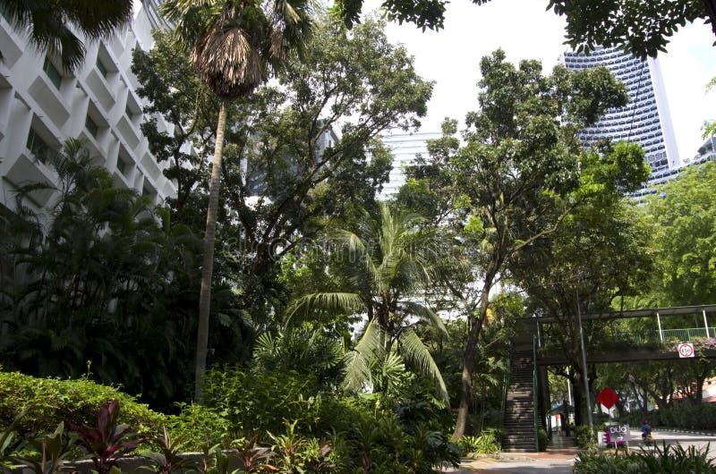 Moderne hotelsgebouwen Singapore stock afbeeldingen