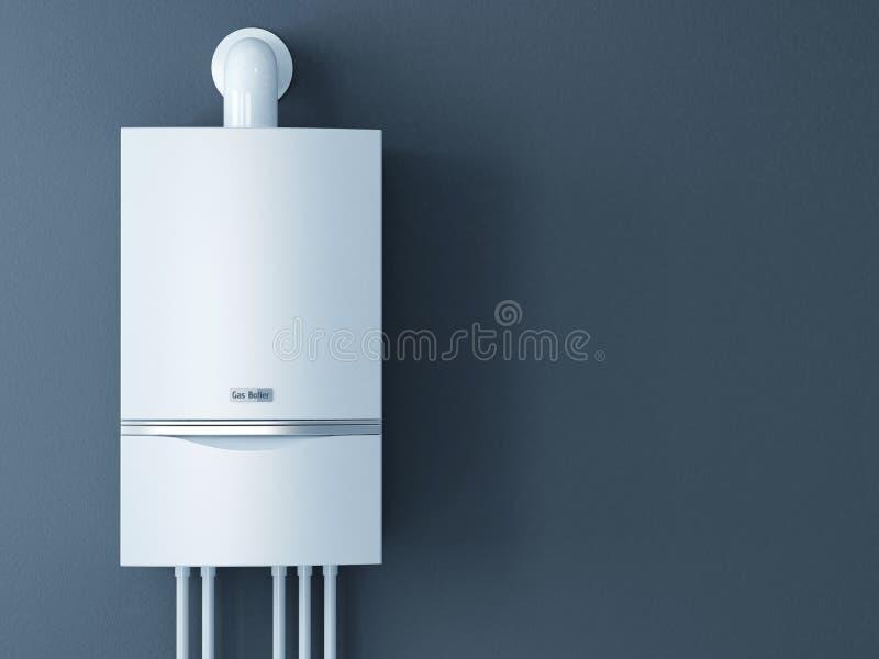 Moderne huisboiler met gas stock illustratie