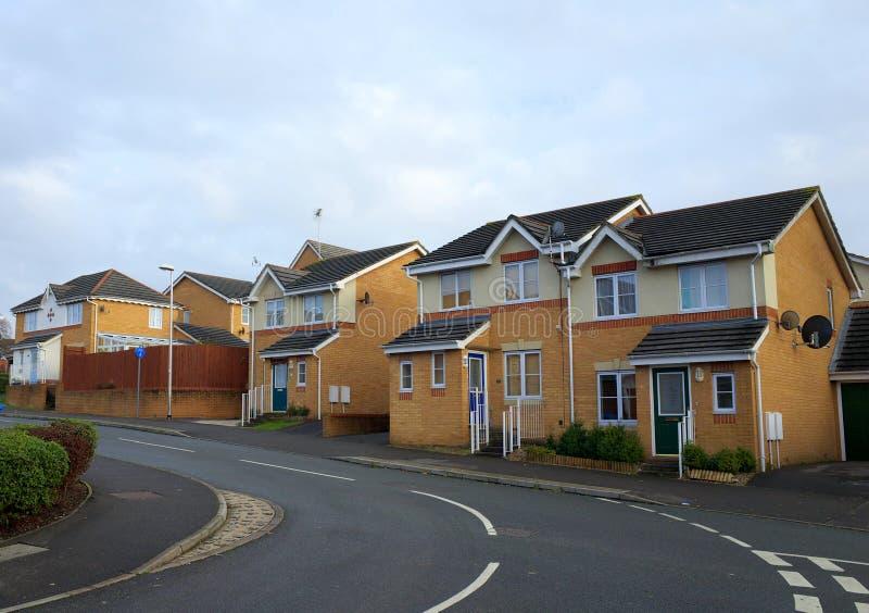 Moderne Huizen in Engeland stock foto