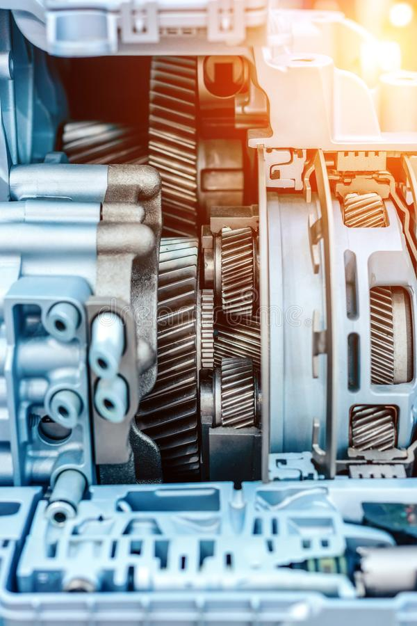 Moderne hydromechanical versnellingsbak Automatische transmissie royalty-vrije stock afbeeldingen