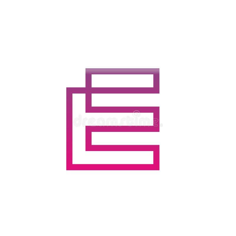 Moderne Ikone des Buchstabe-E, modernes Digitaltechnik-Konzept, einfacher Ikonen-Entwurf - Vektor lizenzfreie abbildung