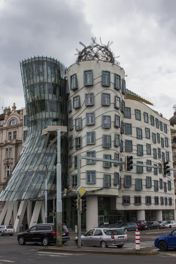 ` Moderne incroyable de maison de danse de ` de maison au centre de Prague République Tchèque photo libre de droits