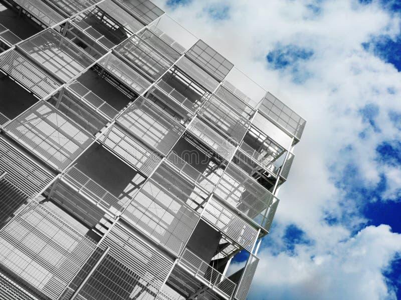 Moderne industrielle Architektur stockbilder
