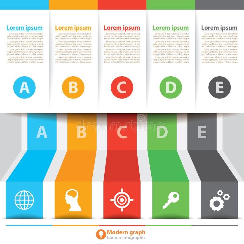 Moderne infographic banner royalty-vrije illustratie