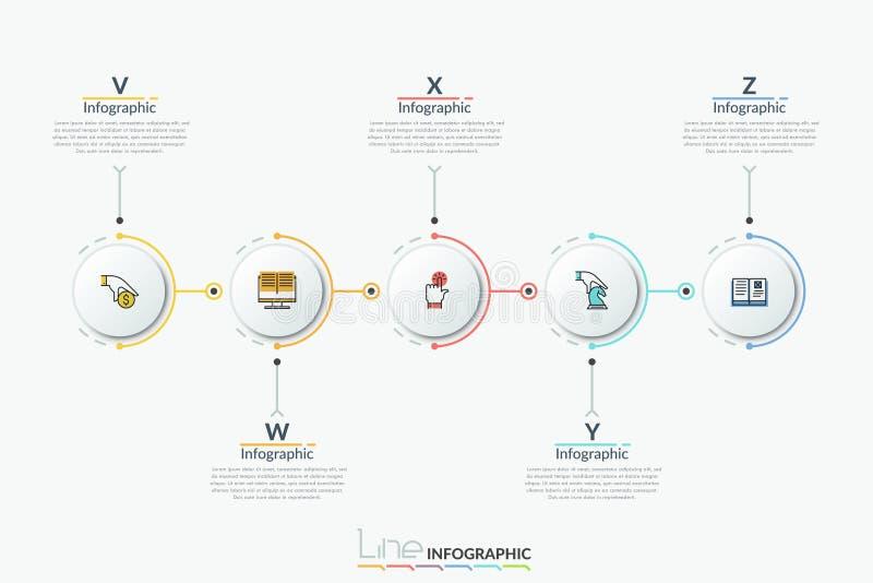 Moderne infographic Designschablone lizenzfreie abbildung