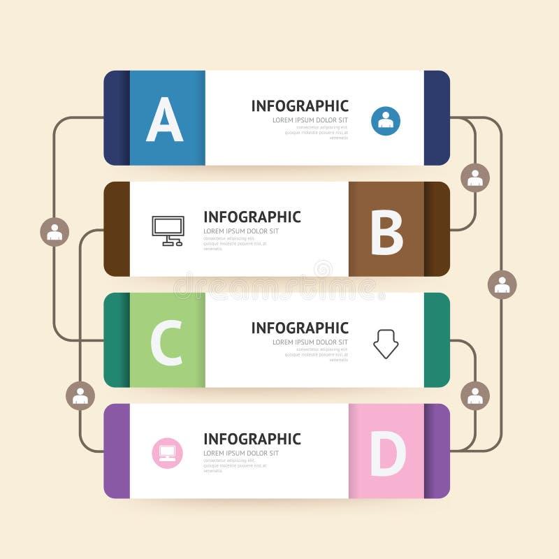 Moderne infographic Fahne mit Linie Designschablone Vektor stock abbildung