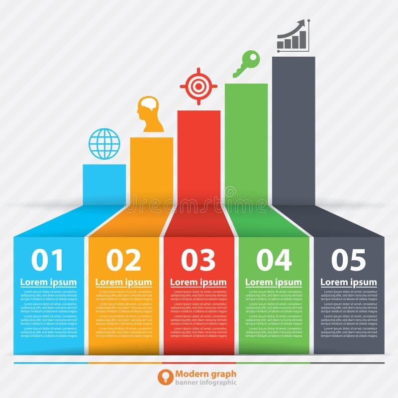 Moderne infographic grafiekbanner vector illustratie