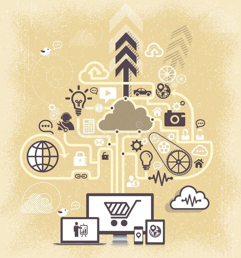 Download Moderne Infographic Ontwerpvector Vector Illustratie - Illustratie bestaande uit media, globaal: 39101993