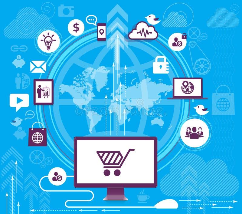 Download Moderne Infographic Ontwerpvector Vector Illustratie - Illustratie bestaande uit aansluting, mobile: 39102655