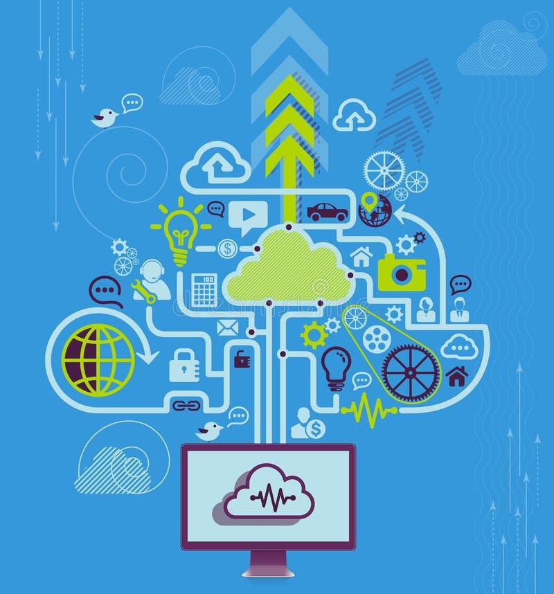 Download Moderne Infographic Ontwerpvector Vector Illustratie - Illustratie bestaande uit wolk, handel: 39102899