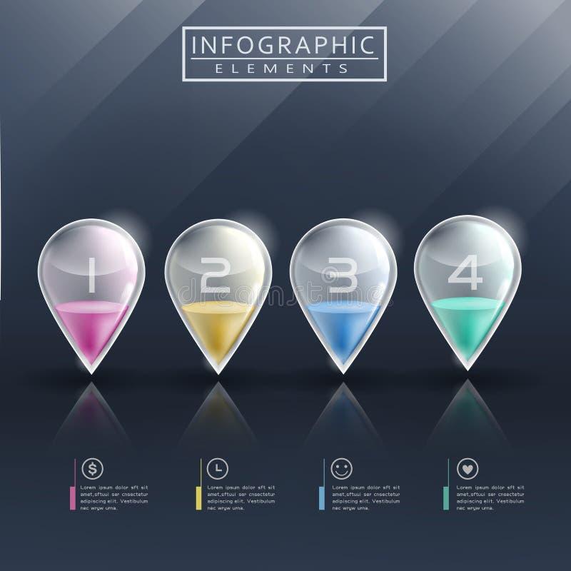 Moderne infographic Schablone lizenzfreie abbildung