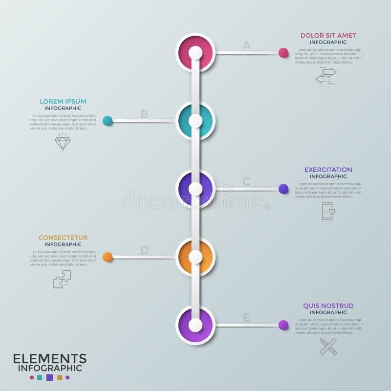Moderne infographic Schablone stock abbildung