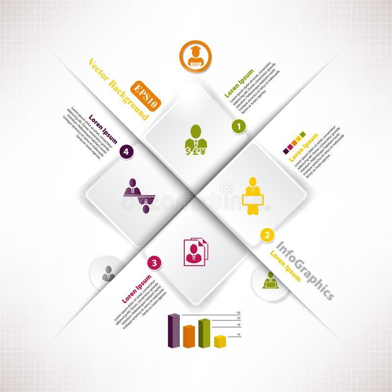 Moderne infographic Schablone für Geschäftsdesign stock abbildung