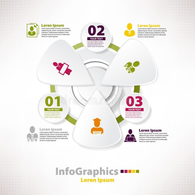 Moderne infographic Schablone für Geschäftsentwurf lizenzfreie abbildung