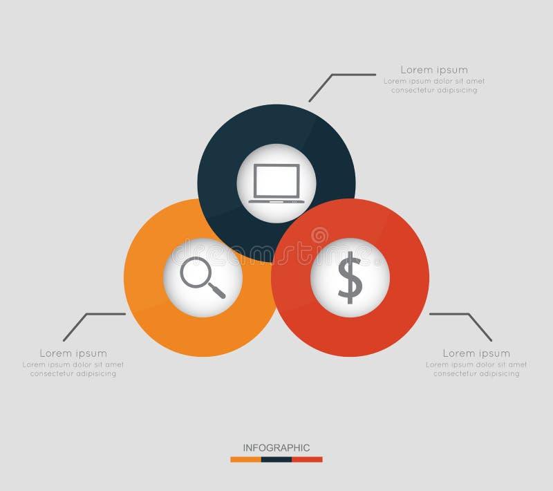 Moderne infographic voor bedrijfsproject stock illustratie