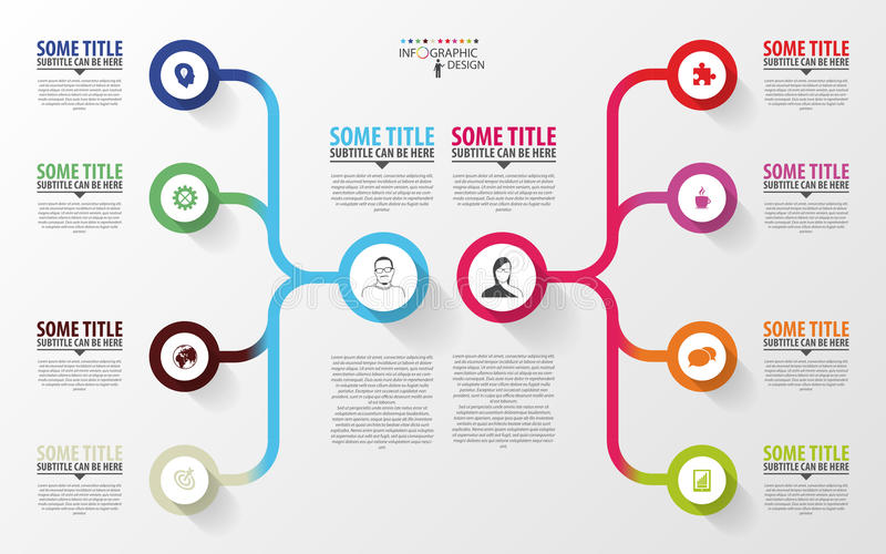 Moderne infographics Het ontwerpmalplaatje van het businessplan Vector