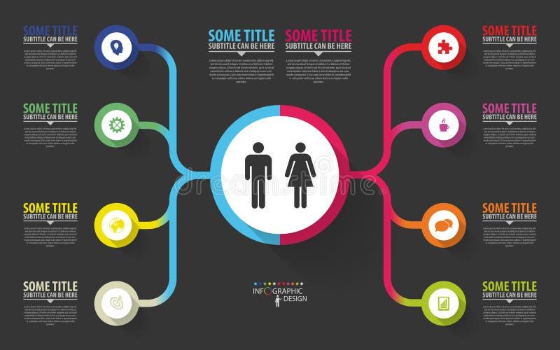 Moderne infographics Het ontwerpmalplaatje van het businessplan Vector vector illustratie