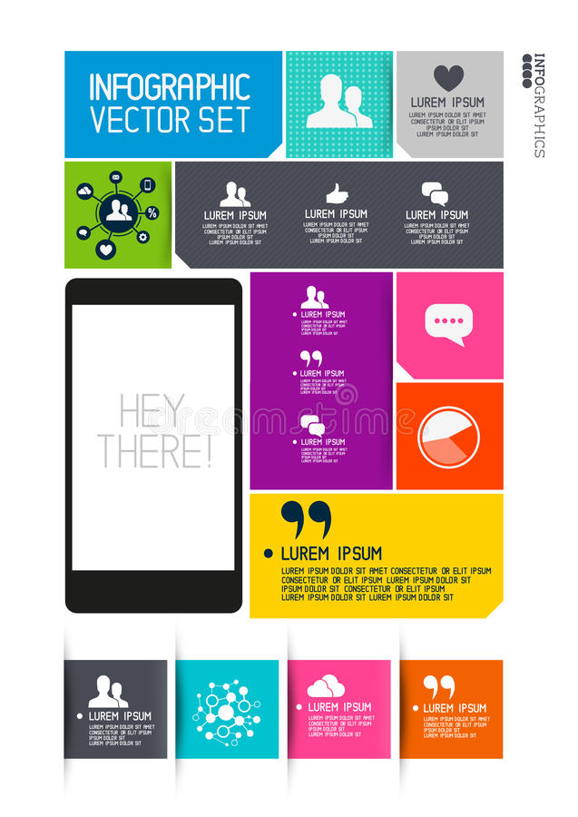 Moderne Infographics-Interface vector illustratie