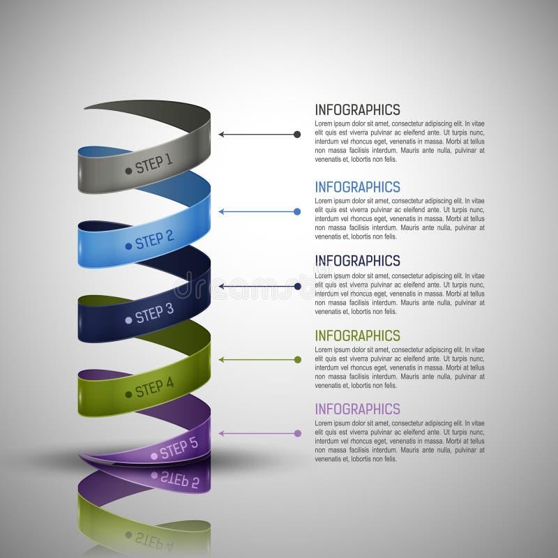 Moderne Infographics-Schablone lizenzfreie abbildung