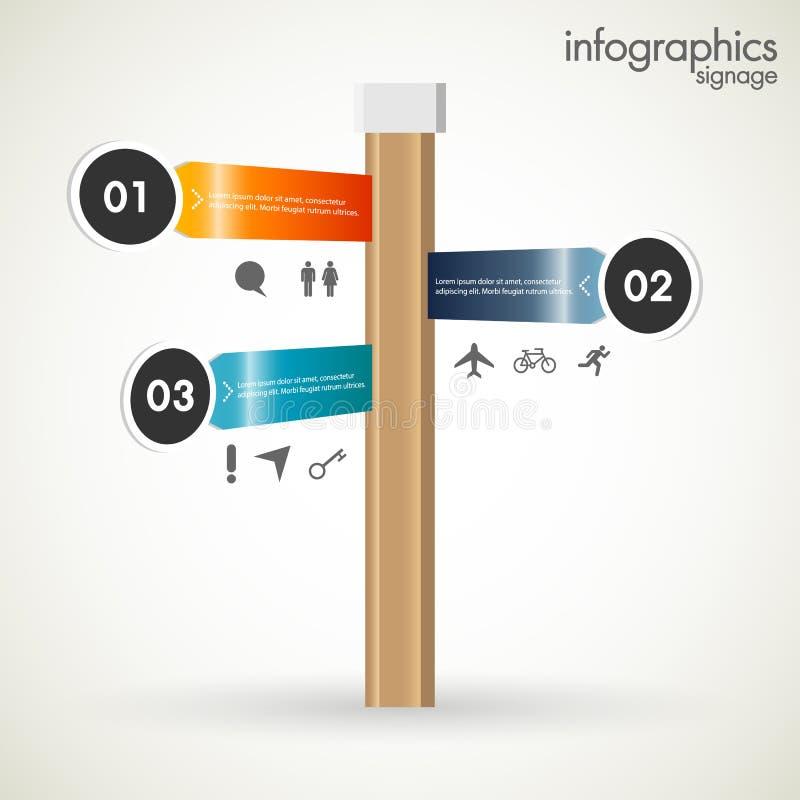 Moderne infographics Schablone lizenzfreie abbildung
