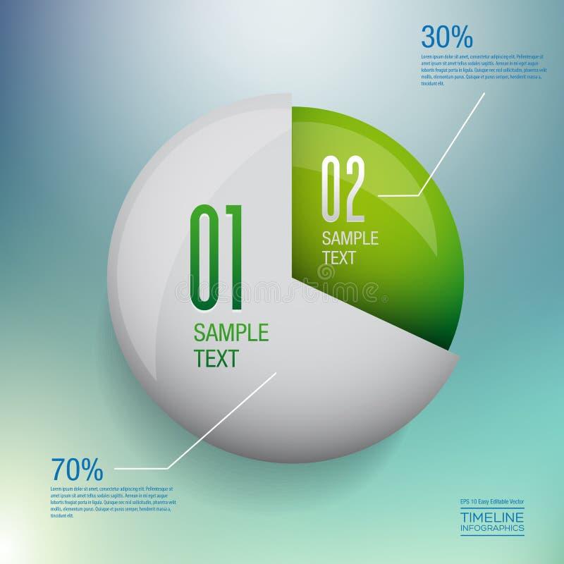 Moderne infographics Vektor-Designschablone vektor abbildung