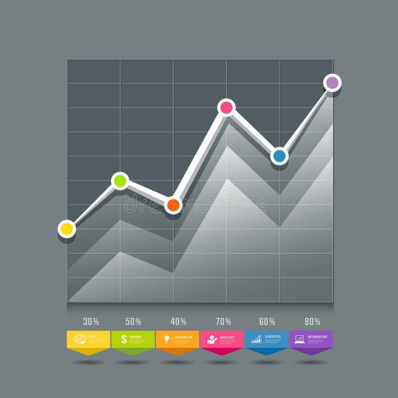 Moderne informatie-grafische Grafieken en pictogrammenontwerp royalty-vrije illustratie