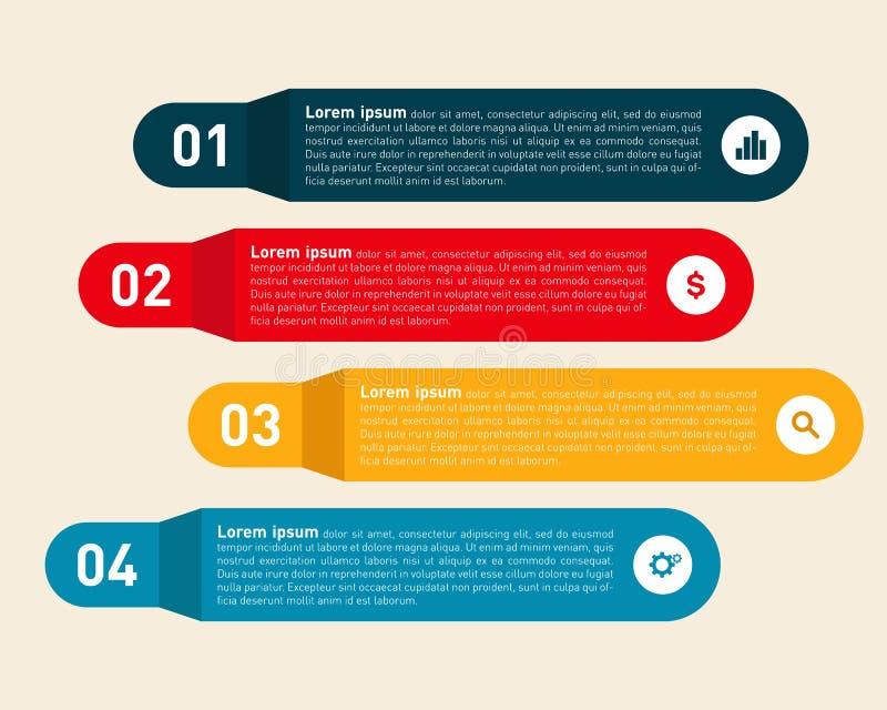 Moderne Informationsschablone Infographic-Gestaltungselements lizenzfreie abbildung
