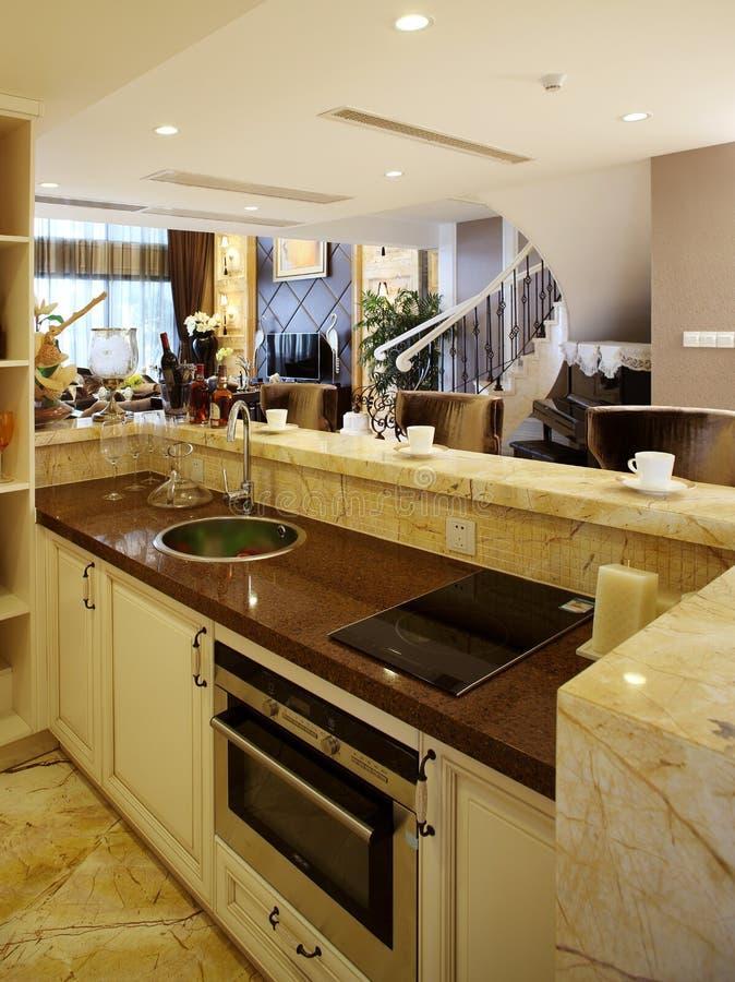 Moderne Innenarchitektur - Küche Stockfoto - Bild Von Raum, Bank