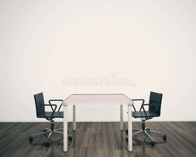 Moderne Innentabelle und Stühle lizenzfreie stockbilder