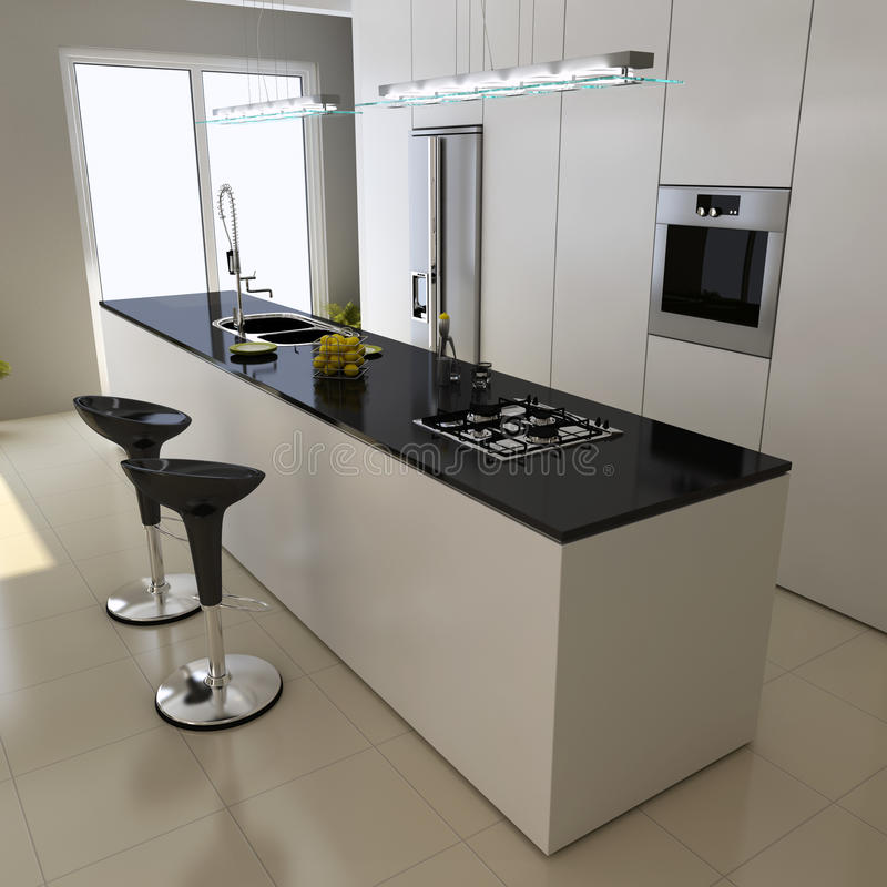 Moderne Küche lizenzfreie abbildung
