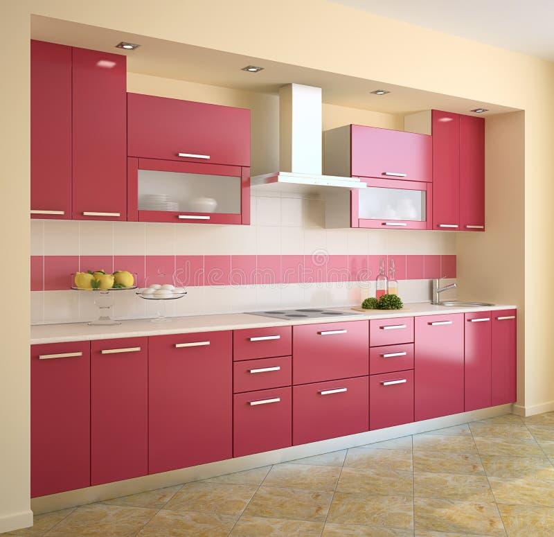 Moderne Küche. lizenzfreie abbildung