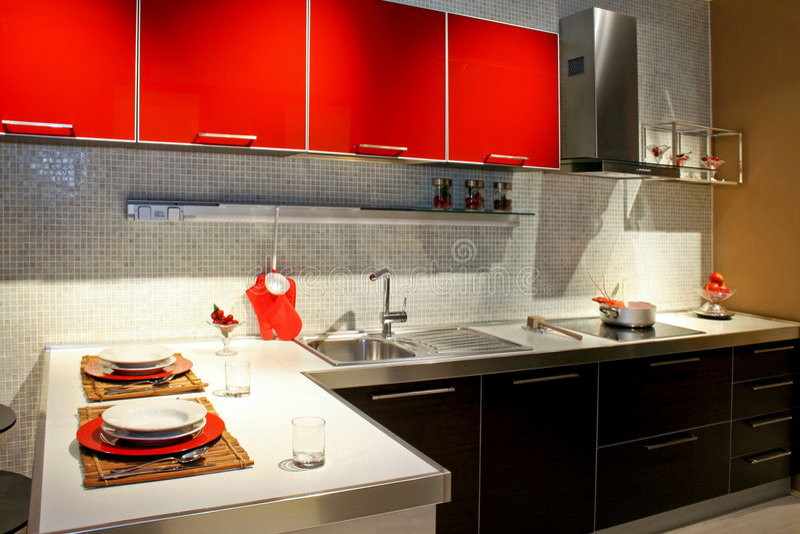 Moderne Küche 2 stockbild