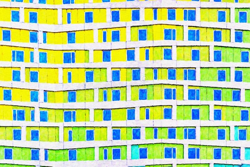 Moderne künstlerische Digital-Malerei lizenzfreie abbildung