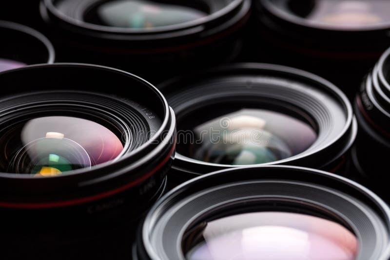 Moderne Kameraobjektive lizenzfreies stockbild
