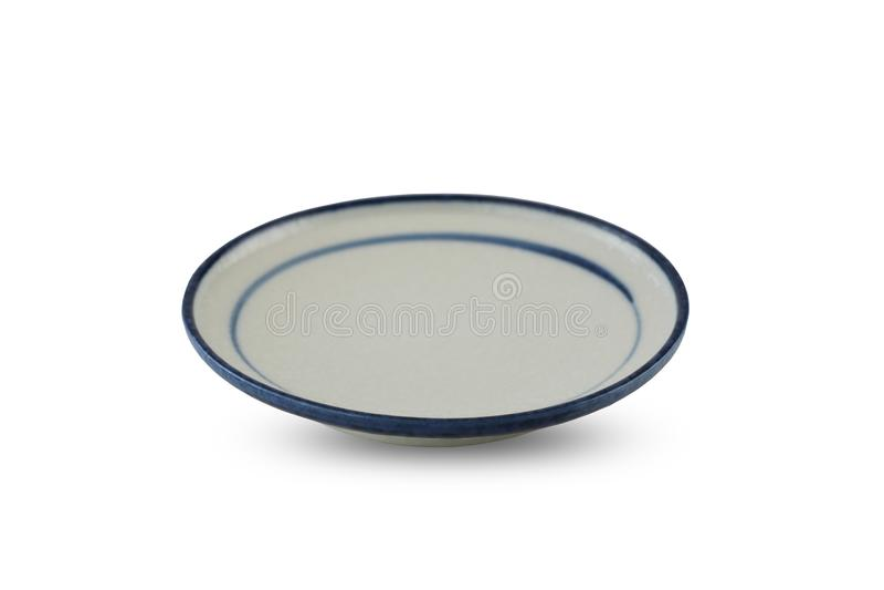 Moderne keramische Platte lokalisiert auf weißem Hintergrund stockbilder