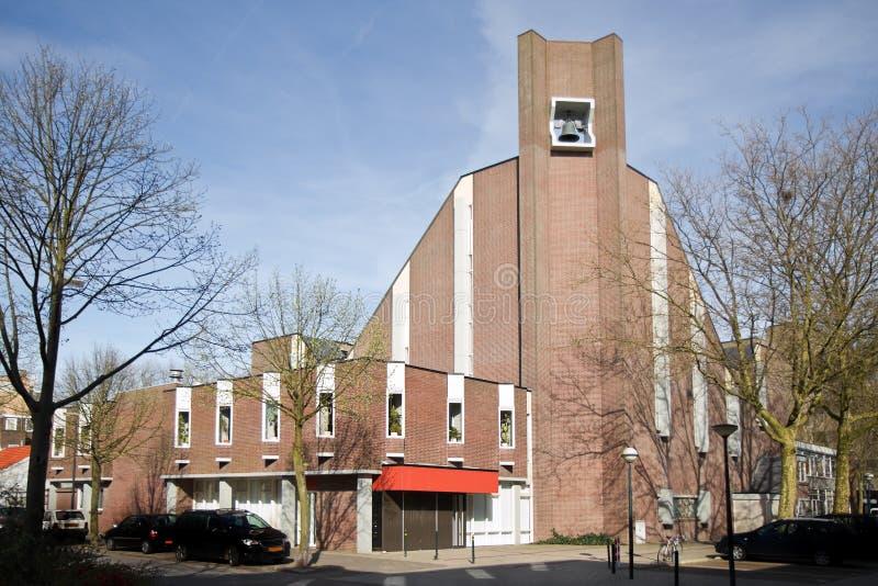 Moderne kerk - plaats van verering stock afbeeldingen
