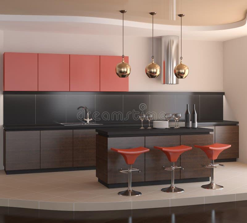 Moderne keuken. royalty-vrije illustratie