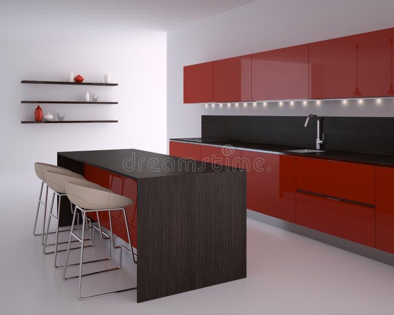 Moderne keuken. stock illustratie
