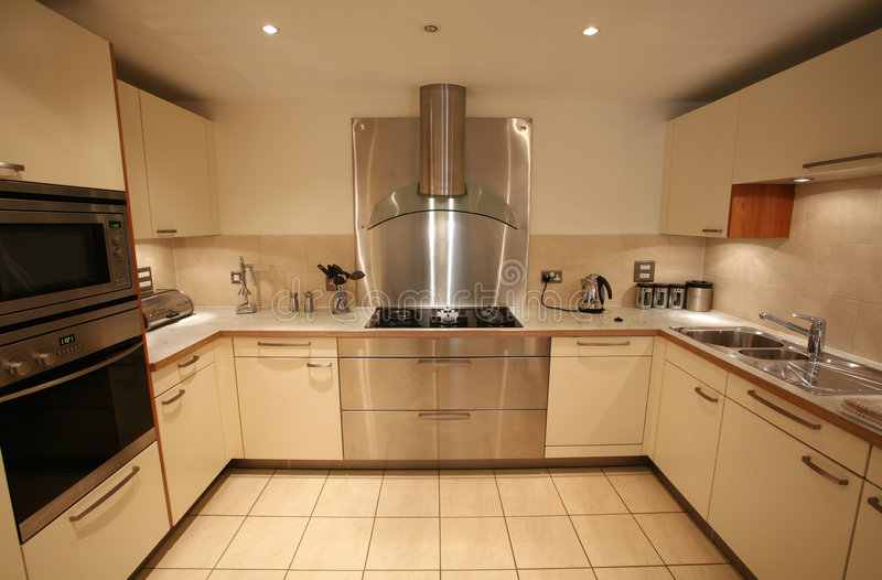 Moderne Keuken royalty-vrije stock foto