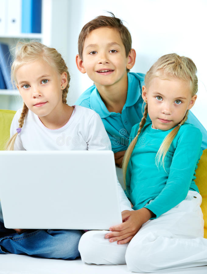 Moderne kinderjaren stock foto