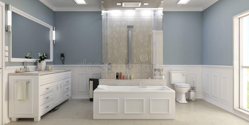 Moderne Klassieke Badkamers Met WC Stock Afbeelding - Afbeelding ...