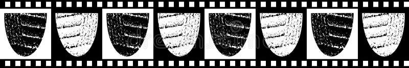 Moderne klassische nahtlose Vektorgrenze von strukturierten Schüsselformen mit kariertem Schwarzweiss-Rand und Hintergrund lizenzfreie abbildung