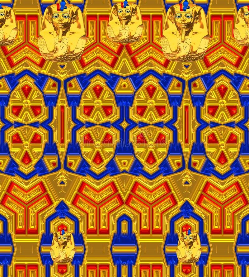 Moderne kleurrijke achtergrond met origineel patroon en Egyptische accenten stock illustratie