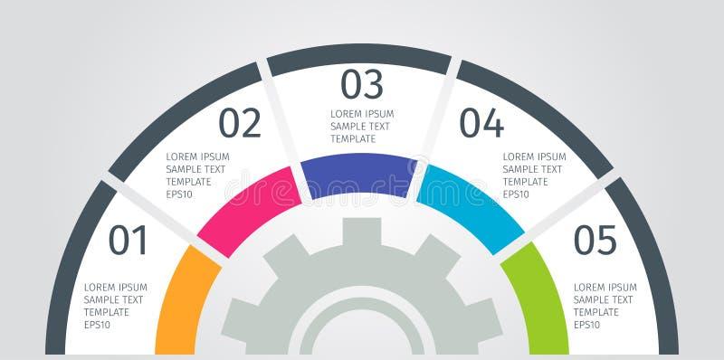 Moderne kleurrijke grafiek, grafiek Malplaatje voor diagram, presentatie De elementen van Infographics Vector illustratie vector illustratie