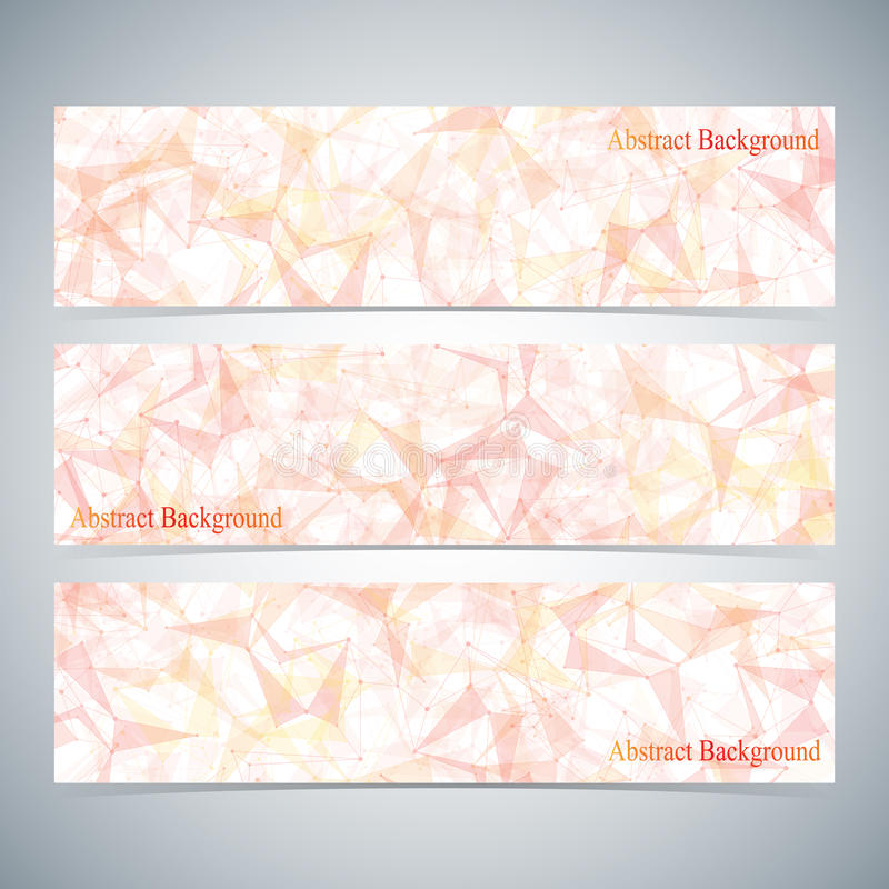 Moderne Kleurrijke Reeks Vectorbanners voor Uw royalty-vrije illustratie