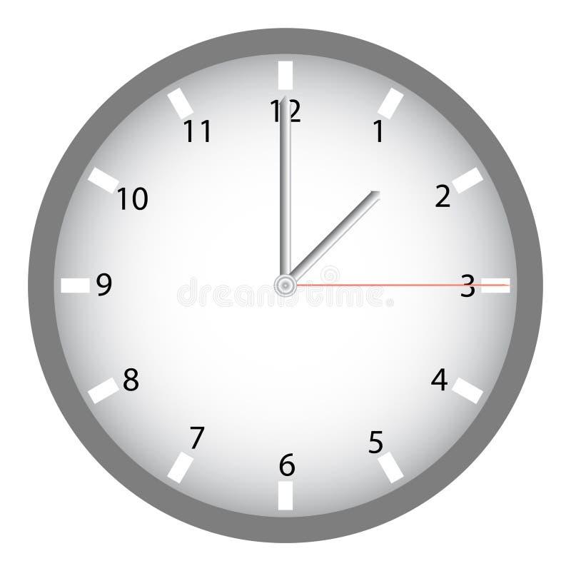 Moderne klok vector illustratie afbeelding bestaande uit metaal 42126438 - Moderne klok ...