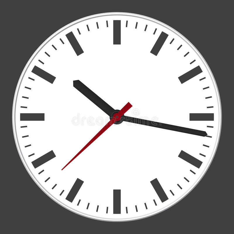 Moderne klok stock illustratie