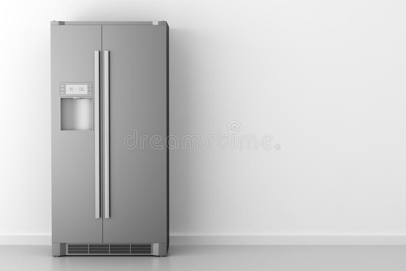 Moderne koelkast voor witte muur vector illustratie
