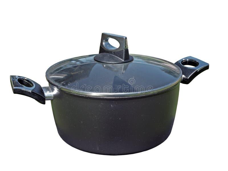 Moderne kokende pot royalty-vrije stock afbeelding